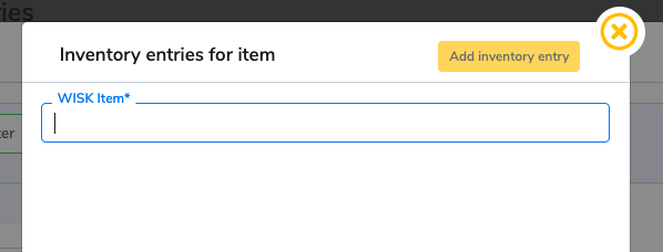 A new window appears where you type the name of the item in the