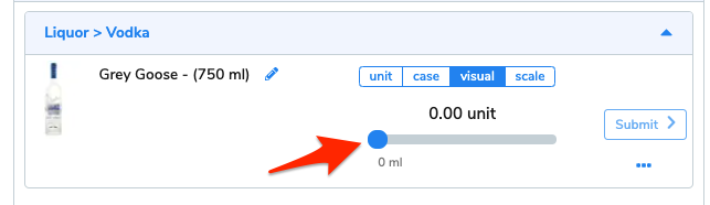 An arrow points at the visual slider.