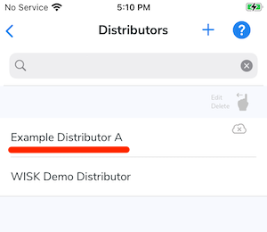 The added distributor now appears in the distributor list.
